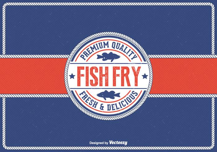 Free Vintage Friday Fish Fry Vector Background