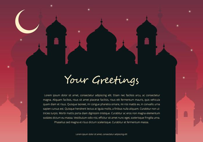 Arabian Night Greetings Template