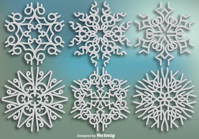Elegant Ornamental Snowflakes - Vector set