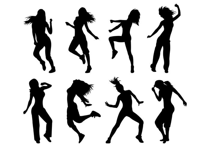 Set Of Zumba Silhouettes