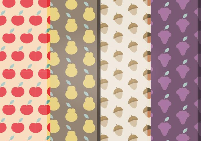 Vector Fruits Patterns