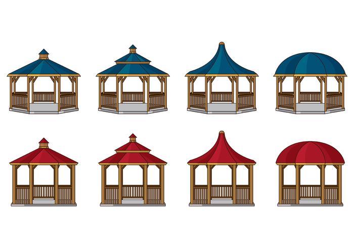 Pavillon Vektor-Icons