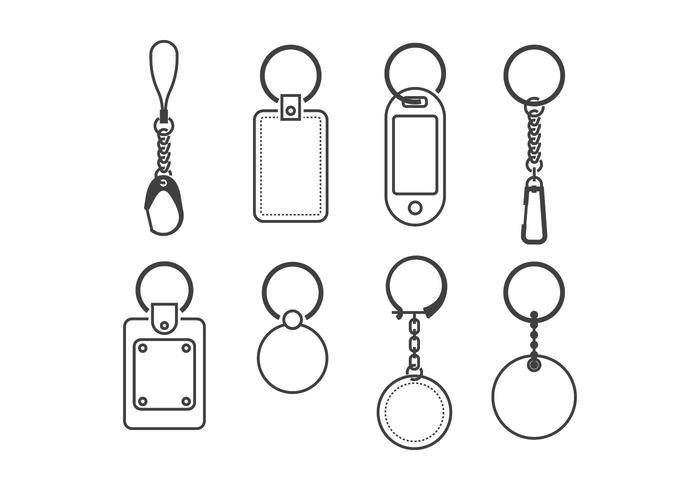 Vecteurs porte-clés