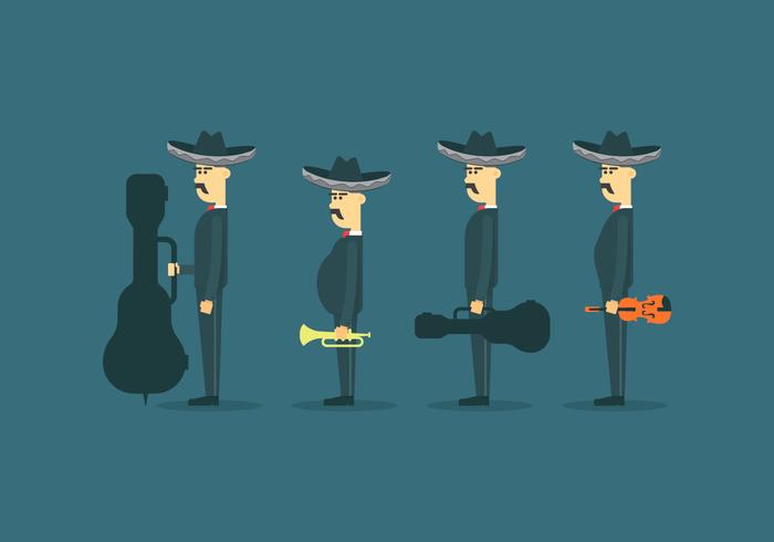 Mariachi Mexico Character Illustration