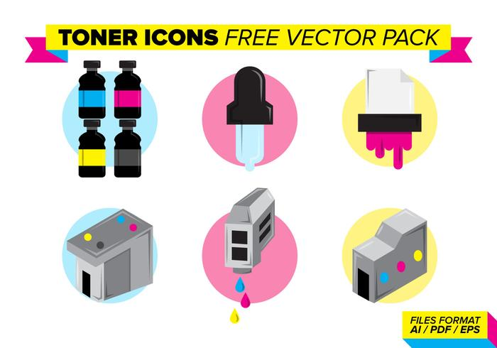 Toner Icons Free Vector Pack