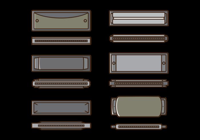 Iconos del vector de la armónica