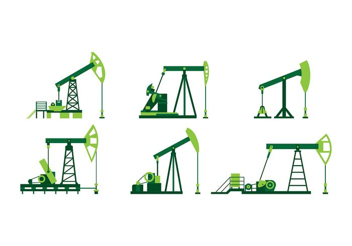 Green Oil Pump Vector