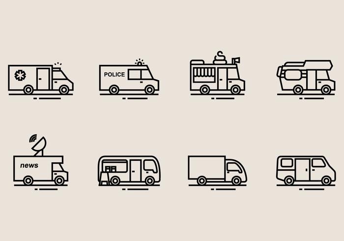 Icone di minibus