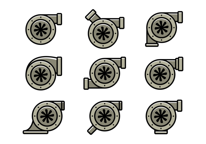 Turbocharger Vector Icons