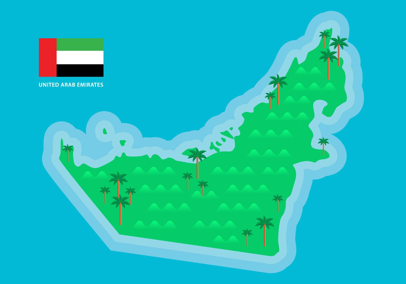 green uae map vector download free vector art stock