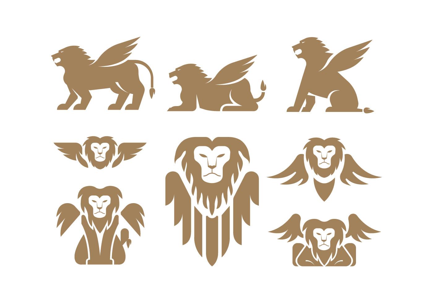 Winged Lion Vectors Download Free Vectors Clipart