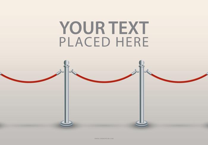 Velvet Rope Text Mall