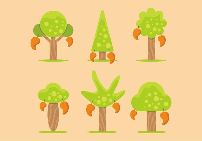 Conjunto de vectores de árbol de mango