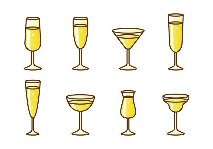 Mimosa drink vector