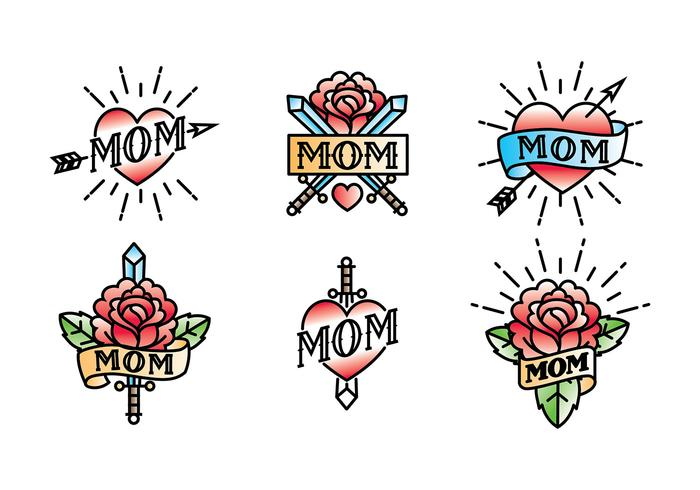 Mom Tattoo Vector Free