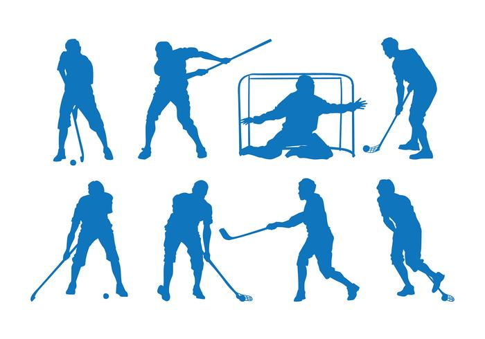Floorball silhouet vector