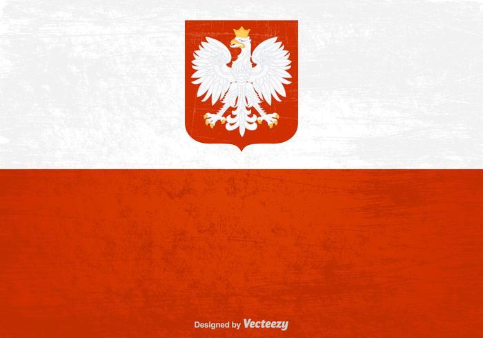 Free Polish Grunge Flag Vector