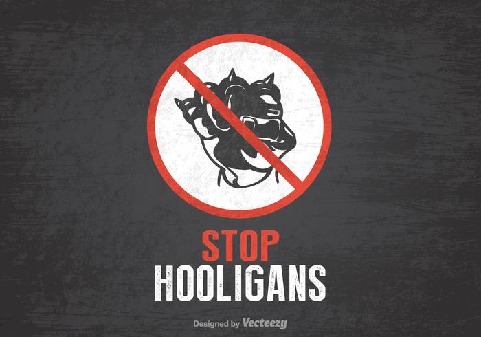 Affiche gratuite pour les vecteurs des hooligans