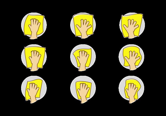 Vektor Hand Torka Ikon