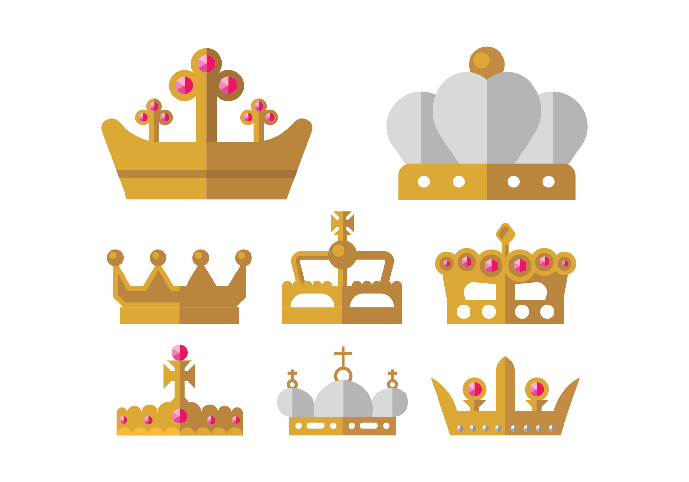 golden crown vector icons download free vector art