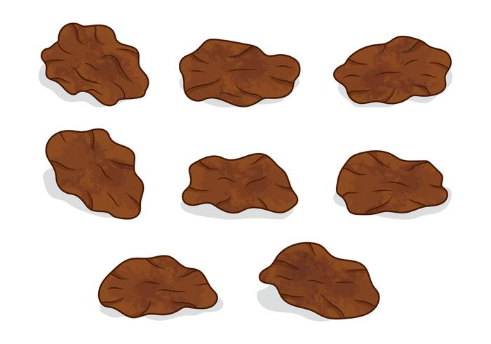 Set Of Raisins Vector