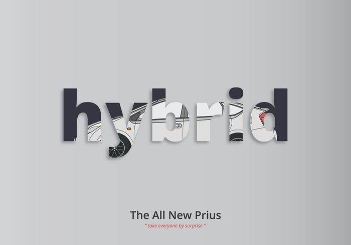 Prius typografi illustration