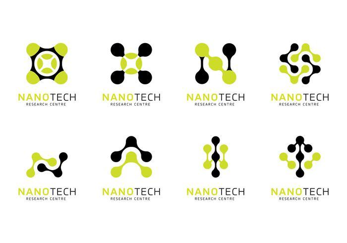 Nanotechnologie Logo Vektor
