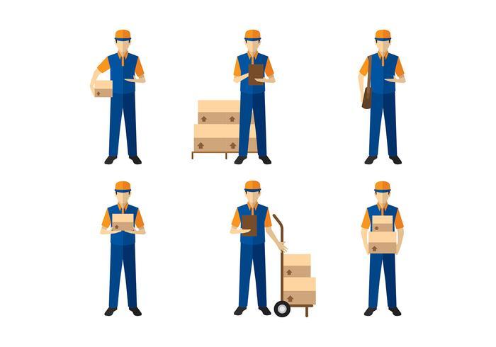 Delivery Man Figure Vector