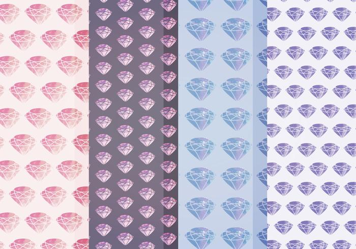 Vector Watercolor Diamond Patterns