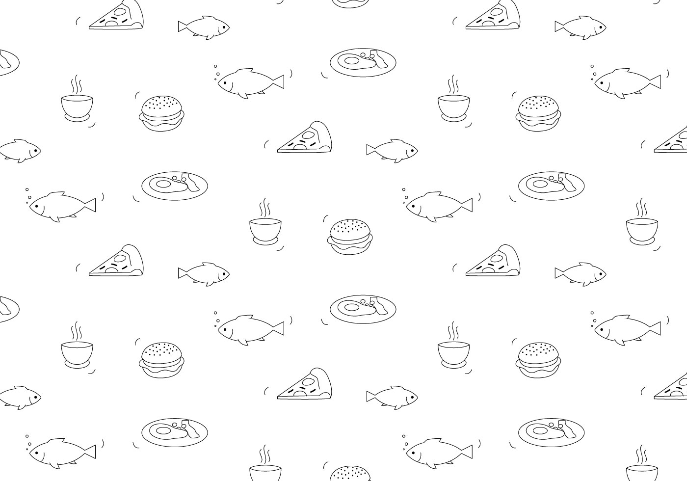 Food Vector Pattern - Download Free Vectors, Clipart ...