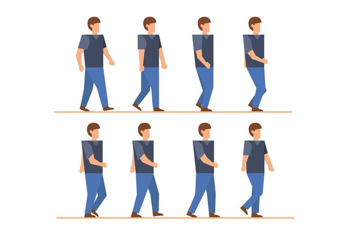 Man lopen cyclusvectoren