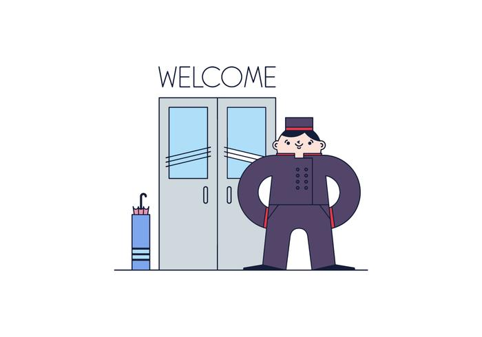 Free Door Man Vector