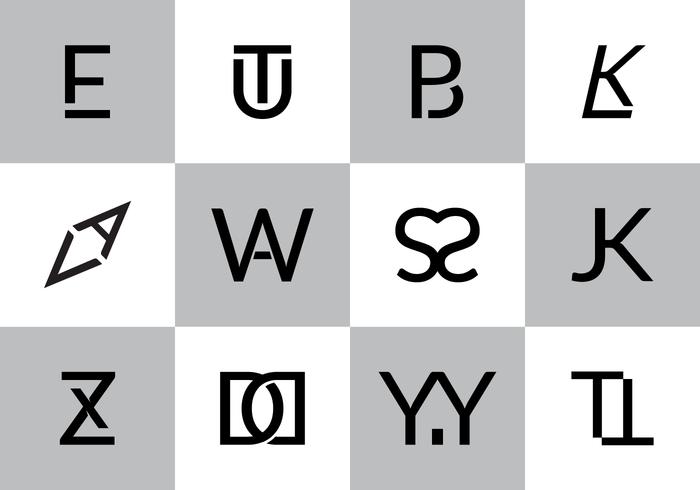 Gratis Monogrammen Vector