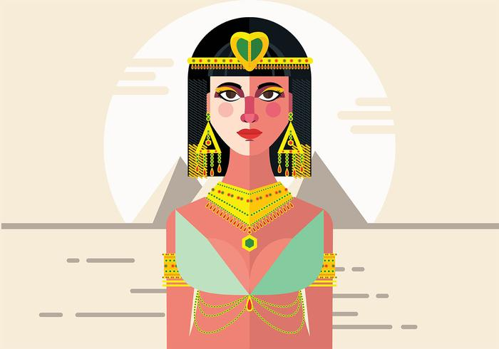 Cleopatra Vector Background