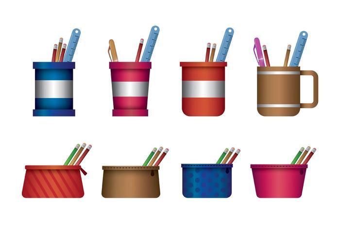 Pencil Case Vector