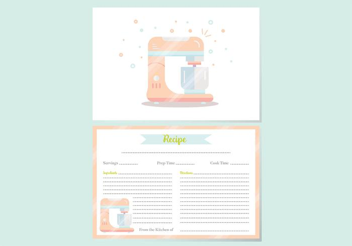 Recipe Cards Vector