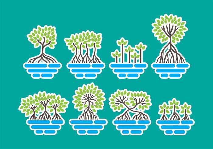 Iconos de manglar