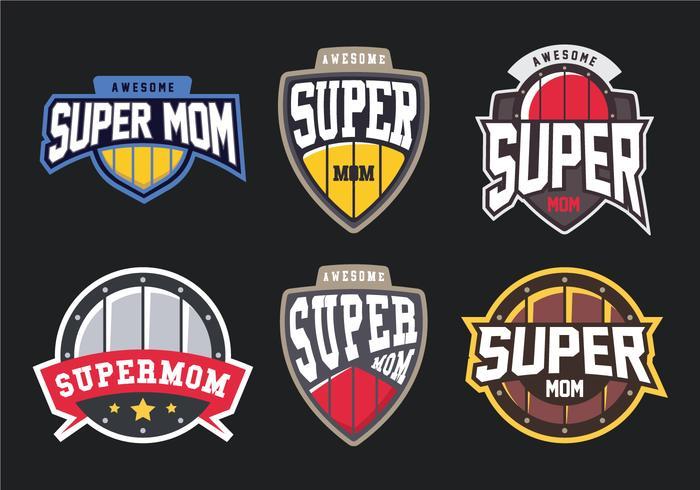 Emblema de super mamãe