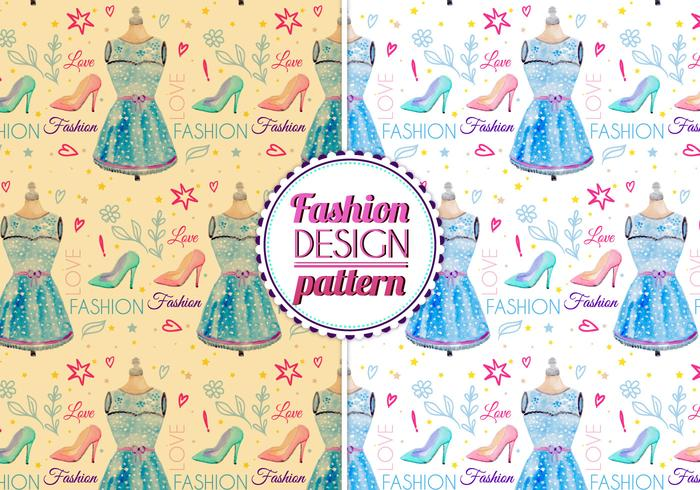 Free Vector Watercolor Fashion Pattern