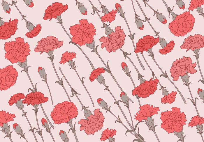 Carnation Pattern Classic Vector