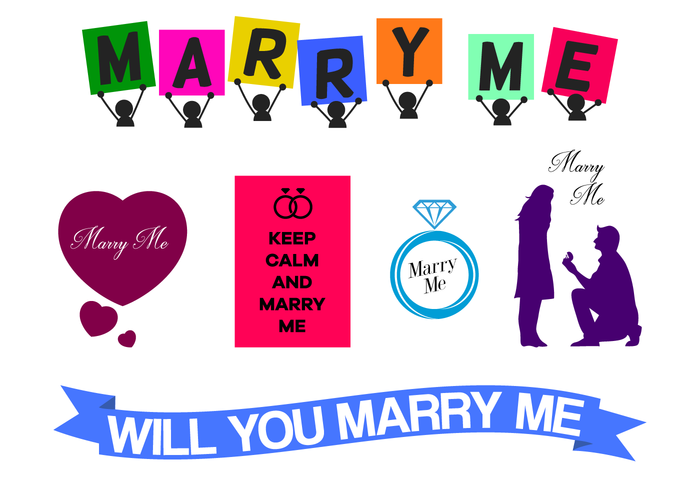 Gratis Marry Me Vector