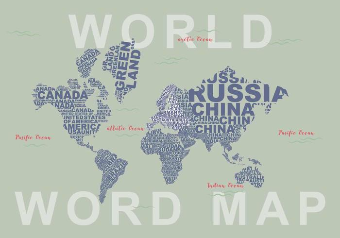 Illustrazione di Word Map