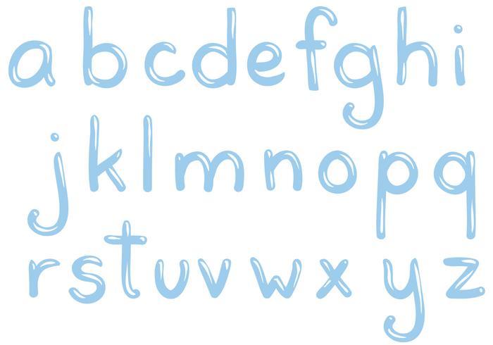 Gratis Water Letters Vectoren