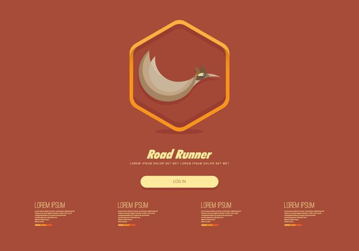 Roadrunner Webpagina Sjabloon