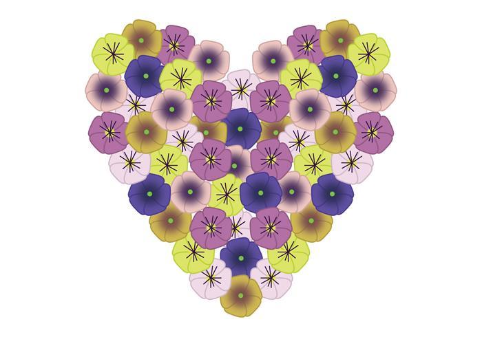 Pansy Heart