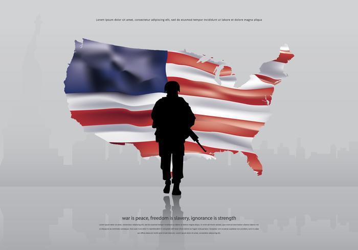 AR15 Amerika Leger Illustratie vector