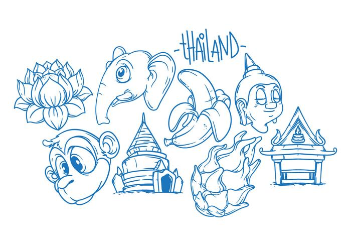 Libre Tailandia Ilustración Vector