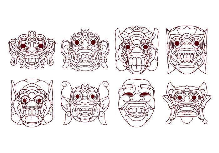 Free Barong Mask Vector