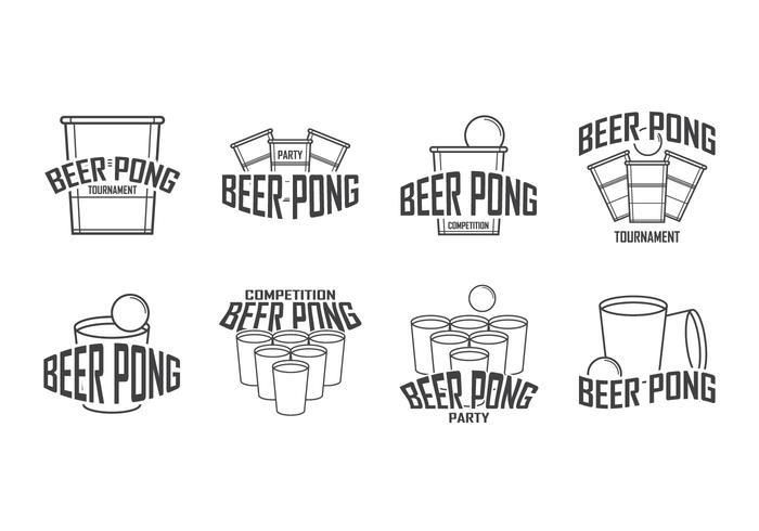 Logo gratuit du logo beer pong