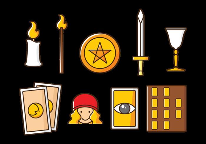 Icone dei tarocchi di vettore